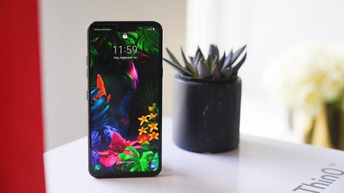 смартфон с цветком