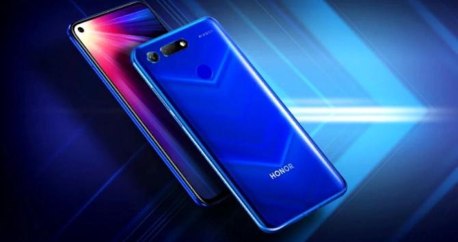 смартфон синий фото